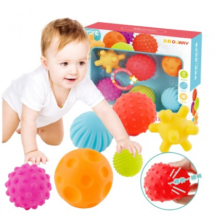Baby Hand Massage Ball Pinch Ball Multi-Texture Safety Can Bite The Teeth Glue Bath Play Toy