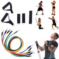 Fitness Exercises Resistance Bands Belt Pulley Rope Exerciser Body Training Yoga Set