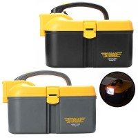 Multifunctional PP Fishing Tool Cabinet With LED Lighting Eco Friendly Storage Boxes (25cm x 16cm x 17cm)