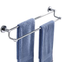 Stainless Steel Double Rod Towel Holder For Bathroom
