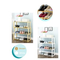Solid Wood Multifunction Simple Storage Shelf Economy Home Shoe Cabinet Space Door Small Shoe Rack