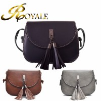 ROYALE Fashion Small Vintage Satchel For Women PU Leather Crossbody Bag Hollow Bag Shoulder Bag With Adjustable Strap (RYL-246)
