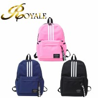 ROYALE Canvas Men Women Backpacks Zipper Vertical Bar Teenager School Bags Big Capacity Mochila Travel Laptop Bags (RYL-240)