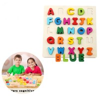 26pcs Colourful ABC Wooden Plate Cultivate Children's Alphabet Grasp Learning Teaching Kids