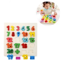 Children's Learning Hand Grasping Puzzle 123 Digital Wooden Building Blocks Teaching Tools