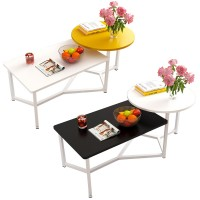 Simple Combination Coffee Table Creative Sturdy Home Apartment Living Room Tea Table (E686)