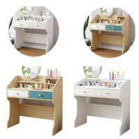 Dressing Table Solid Wood Bedroom Dressing Table Double Drawer