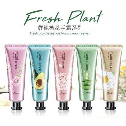 Fresh Plant Essence Hand Cream Series Moisturizing Hydrating Men Women Anti-drying Care Hand Cream 5Pcs/Set (CM-2866)