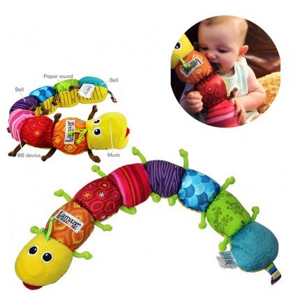 Multi Colorful Musical Inchworm Rattles Shaker Baby Kids Toddler Learning Educational Soft Toy Doll