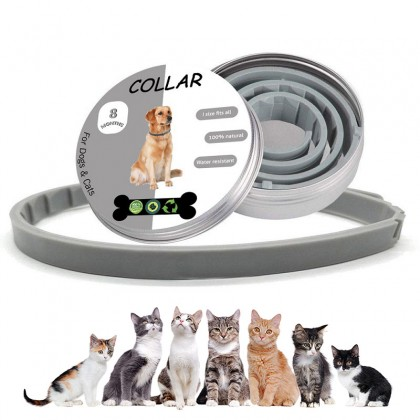 Adjustable Pet Collar Waterproof Flea Collar Anti Flea Tick Mite Louse Remedy Neck Ring For Pet