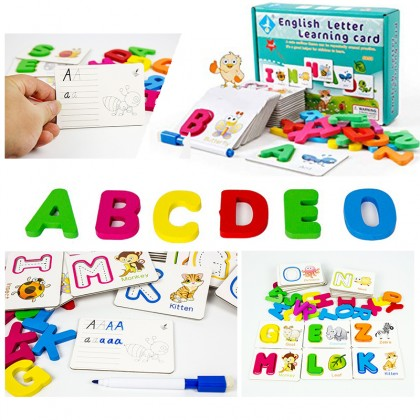 Childrens Animal Puzzle English Alphabet Word Cognitive Toys Baby Literacy Card Learning Enlightenment