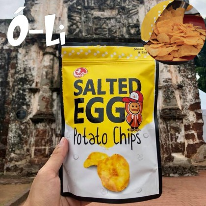 [HALAL] O-Li Snack Salted Egg Potato Chips (100 gram)