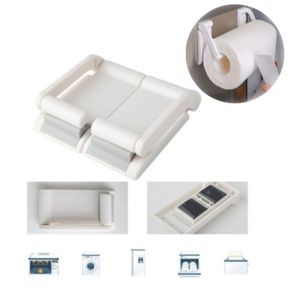 GTE 2 Set Creative Adjustable Plastic Tissue Paper Holder With Magnetic Kitchen Bathroom For Home