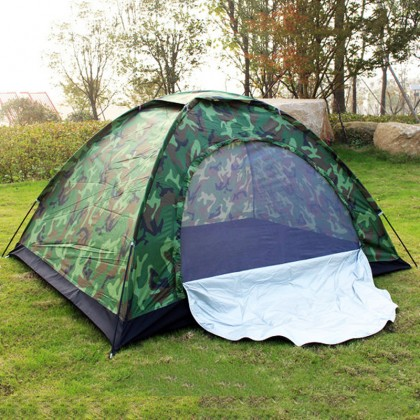 Camping Tent 2 People Outdoor Tents Manual Construction Military Green Tent Waterproof Anti Ultraviolet
