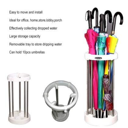 Anti-Leaking Water Stainless Steel Umbrella Stand Storage Rack Space Savers Umbrella Storage Organisation