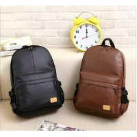 Korean Style PU Leather Shoulder Backpack